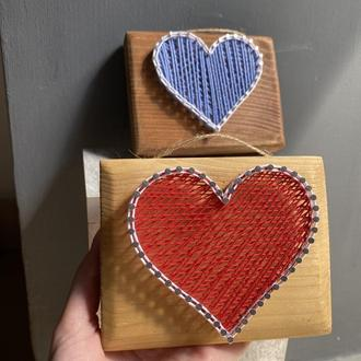 Валентинки стринг-арт сердечки