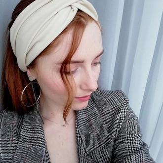 Пов'язка на голову чалма з еко шкіри