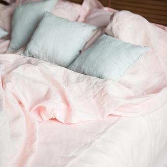 """Постельное белье из льна """"Зефир"""",розовое постельное белье из льна, льняное постельное,льняная постель"""