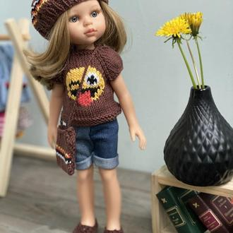 В'язана Одяг для Ляльки Паола Рейну, Наряд Paola Reіna, Набір Одягу для Паола Рейну