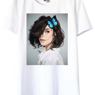 Белая футболка с принтом Freya