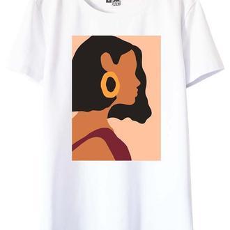 Белая футболка с принтом Liza