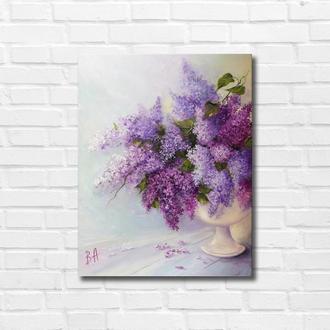 """Картина маслом """"Цветы весны"""" 45х35 см, холст на подрамнике, масло"""