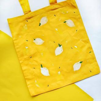 Жовта еко сумка лимони