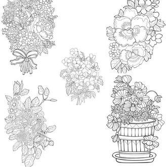 """Антистресс-раскраски """"Цветы"""""""
