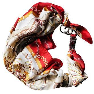 Атласный шарф, платок, шарф-колье, шарф-чокер, шейный платок