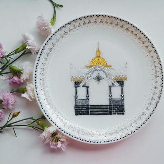 Подарок декоративная тарелка ′Сумы′ украинский сувенир