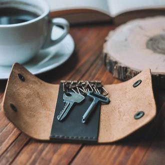 Кожаная ключница с гравировкой