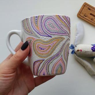 Чашка с ручной росписью ′delicate intuition′