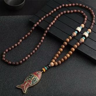 "Тибетское ожерелье - амулет "" Благополучие""."