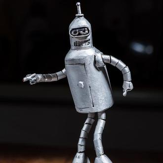бендер футурама,bender futurama,metall sculpture
