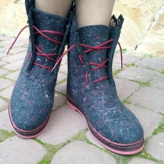 Эко ботинки из шерсти Каролька