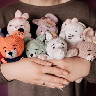 Hello Kitty вязаные игрушки
