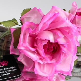 Брошь-заколка шелковая роза «Ассоль». Цветы из ткани
