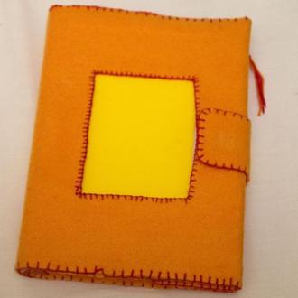 Теплая Солнечная обложка из фетра для блокнота или чего другого формата А5