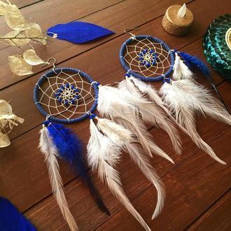 Серьги с перьями ловец снов