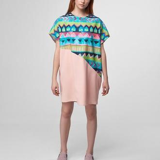 Платье-футболка с принтом Summer vibes
