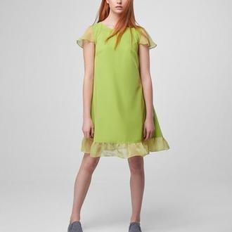 Платье-трапеция Tulip greenery