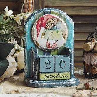 вечный календарь с совой