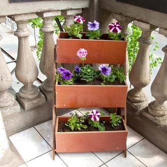 Стеллаж для цветов со съемными ящиками из влагостойкой фанеры