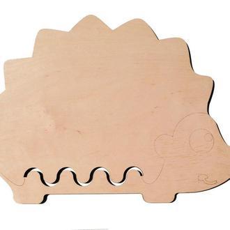 Основа для Бизиборда Ёжик 40х30 см (фанера 0,8 см) Заготовка Ежик Основа для Бізіборда їжачок ФАНЕРА