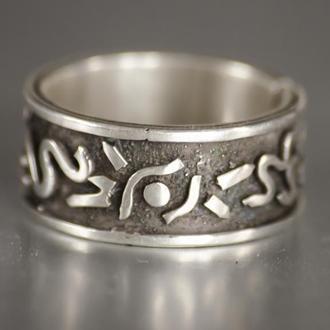 широкое серебрянное кольцо, кольцо унисекс, мужское кольцо