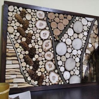 Натуральное эко-панно из дерева