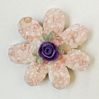 Декоративный магнит  Розовый кварц Декор для кухни
