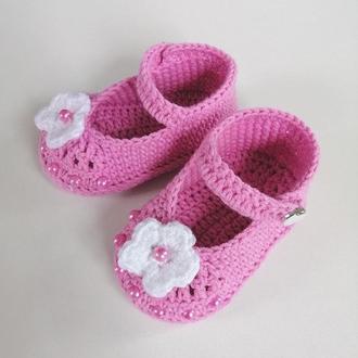 """Пинетки туфельки """"Жасмин"""" для девочки 3-10 месяцев"""