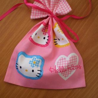 Набор подарочных мешочков, торбочки для хранения «Hello Kitty»