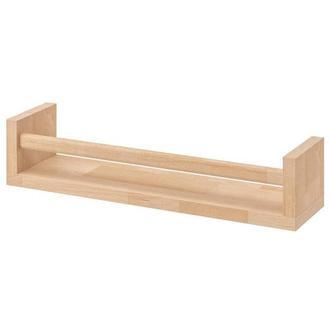 Полка навесная деревянная икеа.