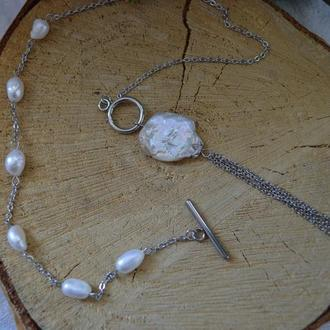 Кольє з бароковим перлами 'Місячне світло'