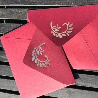 Подарочный конверт с тиснением