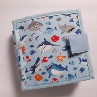 Развивающая мягкая игрушка книжка из ткани и фетра. Для самых маленьких.