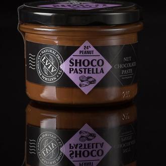 Шоколадная паста с арахисом (240 грамм). Содержит 24% орехов