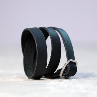 Кожаный браслет в 2-3 оборота, код 8160