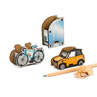 Набор точилок для карандашей (3шт) (Бизнес Центр, Велосипед, Автомобиль)