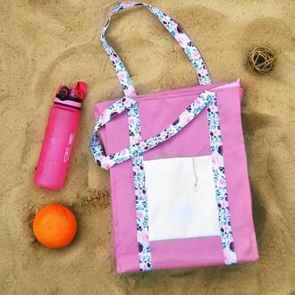 Эко-сумка пляжная шоппер