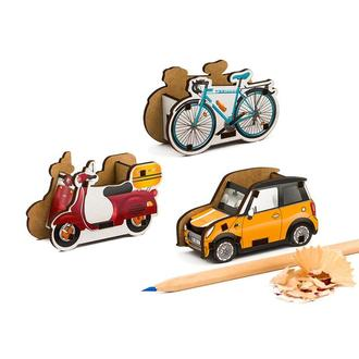 Набор точилок для карандашей (3шт) (Скутер, Велосипед, Автомобиль)