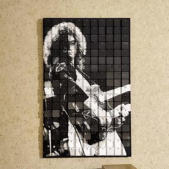Картина из пайеток Wall Decor Guitarist  75 х 45 см