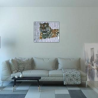 """Картина из пайеток Wall Decor """"Тигр"""" 60х49 см"""