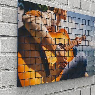 "Картина из пайеток Wall Decor ""Аккустическая гитара"" 72х48 см"