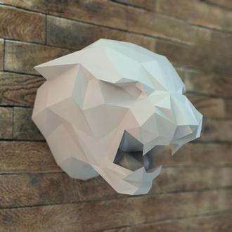 Наборы для создания 3д фигур Оригами Паперкрафт Бумажная модель Papercraft Пантера