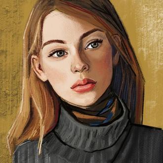 Портрет диджитал пастелью