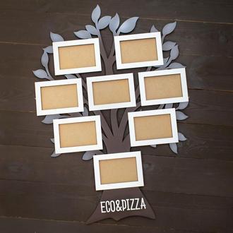 Фоторамка коллаж семейное дерево