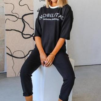 Спортивный костюм женский Nobilitas 42 - 52 черный трикотаж (арт. 20027)