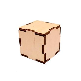 Деревянная Заготовка Основа для Бизикубика 10 см БИЗИКУБИК из фанеры дерев'яний БІЗІКУБИК