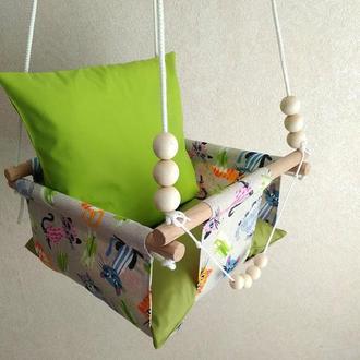 Дитячі підвісні гойдалки з тканини