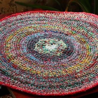 Коврик для пола, коврик вязаный крючком, коврик ручной работы, вязаный ковер, килим, килимок