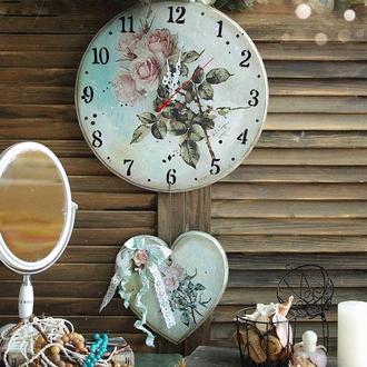большие часы в стиле винтаж